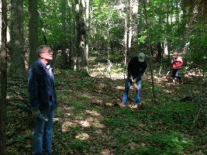 Clearing the Pieper Woodland trails with Jon Clark.  (Not  shown, Bill Horne, Bill Leece and Mike McGuinness.)